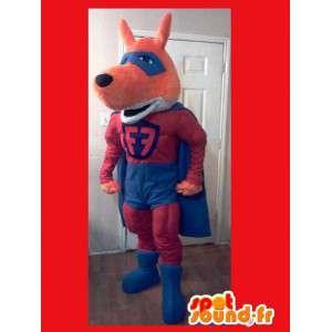 Super-bunte Fuchs-Maskottchen - Disguise Super Eros - MASFR002619 - Maskottchen-Fox