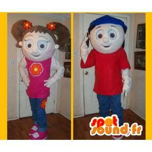 2 Maskotteja opiskelijoiden, teini-ikäiset - 2 Costume Pack  - MASFR002624 - Maskotteja Boys and Girls