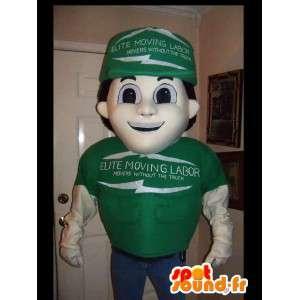 Mascot technicus verkoper - Disguise Green verkoper - MASFR002625 - man Mascottes
