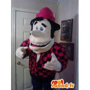 Mascot homem da montanha - Man traje de pelúcia