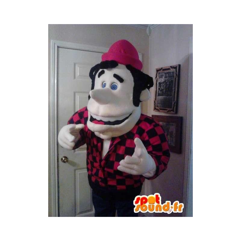Mascot mountain man - Man kostuum teddy - MASFR002627 - man Mascottes