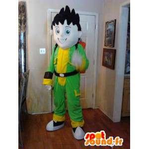 Manga mascot boy with jetpack - Costume manga - MASFR002629 - Mascots boys and girls