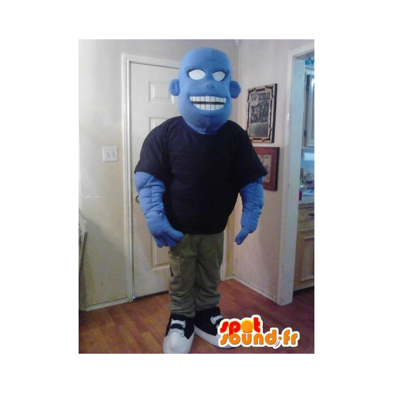 Tecknad blå monster maskot - Blå karaktär kostym - Spotsound