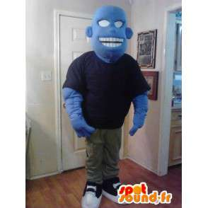 Blue monster mascot BD - Costume character blue - MASFR002630 - Monsters mascots