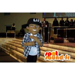 Rapper with his hat mascot - Disguise rapper - MASFR002636 - Mascots boys and girls