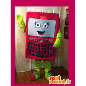 Rosa Maskottchen Smartphone - Handy-Kostüm - MASFR002641 - Maskottchen der Telefone