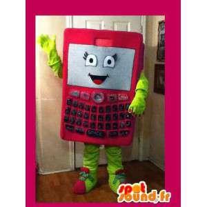 Smartphone pink mascot - Disguise mobile phone - MASFR002641 - Mascottes de téléphone