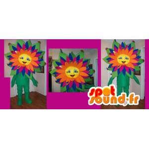 Mascot multicolored flower - flower costume - MASFR002644 - Mascots of plants