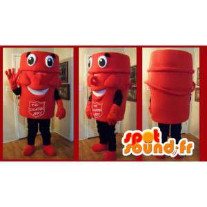 Mascotte armée du salut de couleur rouge - Costume armée du salut