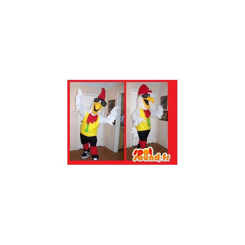 Mascotte de coq sportif - Déguisement de coq - MASFR002656 - Mascotte de Poules - Coqs - Poulets