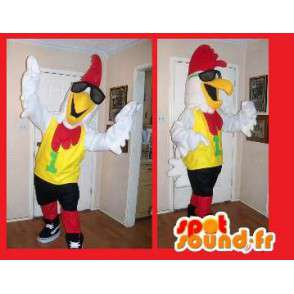 Mascot Coq Sportif - Disguise cock - MASFR002656 - Mascot of hens - chickens - roaster