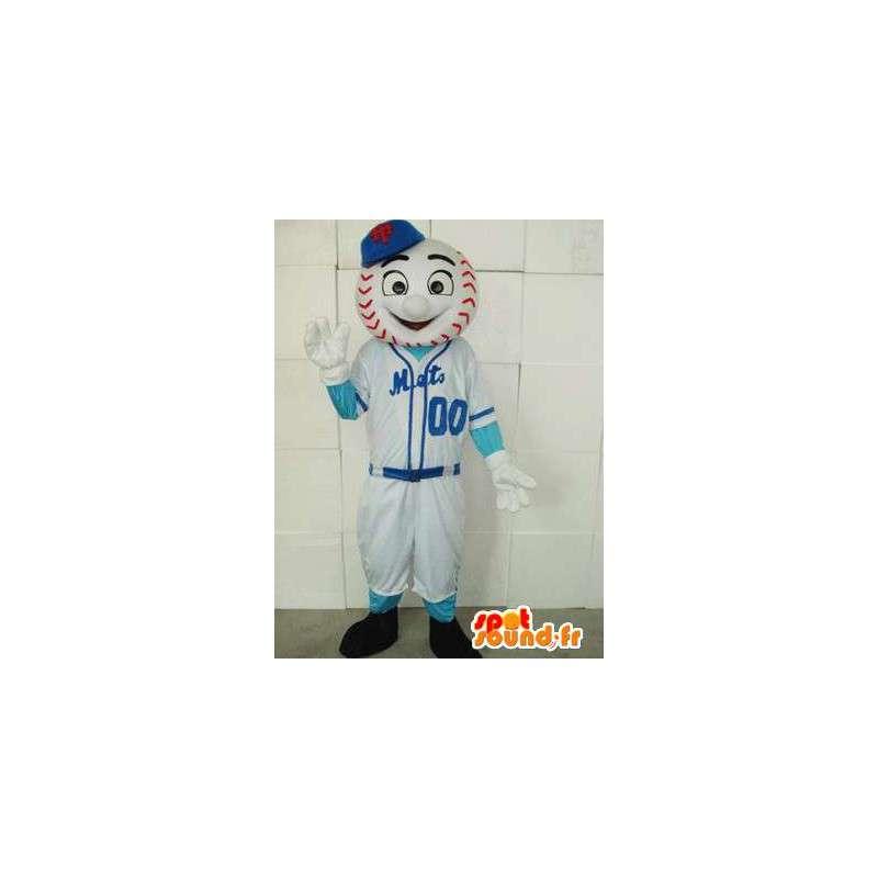Mascotte Joueur de Base-Ball - Déguisement New York mets - MASFR00220 - Mascotte sportives