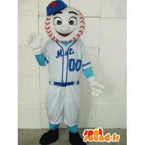Μασκότ παίκτης του μπέιζμπολ - πιάτα Νέα Υόρκη μεταμφίεση - MASFR00220 - σπορ μασκότ