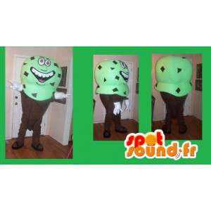Mascot κώνου μέντα πάγου πάγου σοκολάτα - μεταμφίεση - MASFR002669 - Fast Food Μασκότ