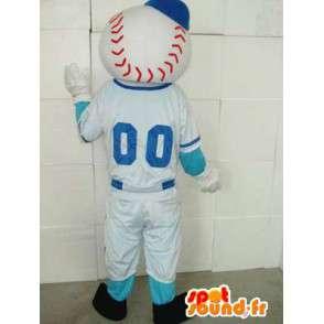 Maskot Player Baseball - New York zamaskovat pokrmy - MASFR00220 - sportovní maskot