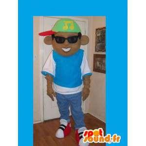 Maskotka DJ / raper z kapelusza i okularów przeciwsłonecznych - MASFR002677 - Maskotki Boys and Girls