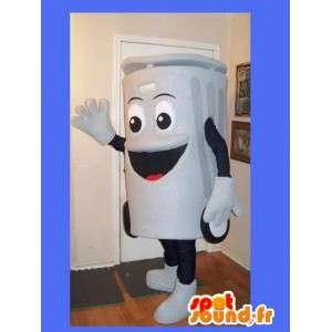 Mascotte de poubelle grise - Déguisement poubelle