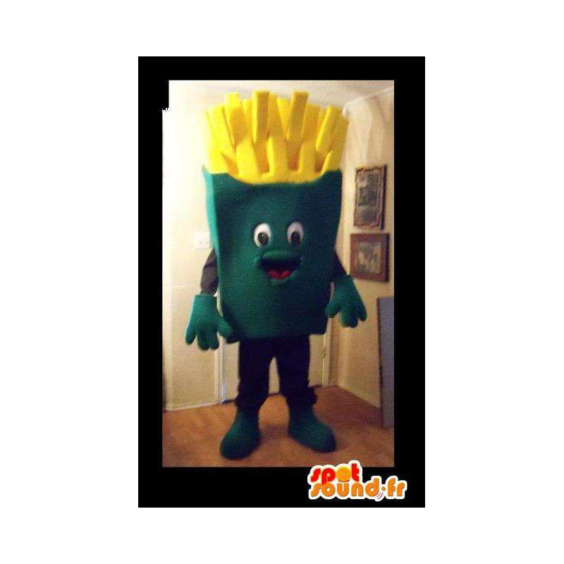 Giant mascot fries - fried giant Disguise - MASFR002693 - Fast food mascots