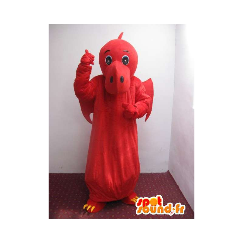 Red and Yellow Dinosaur mascot - Dragon Costume - MASFR00222 - Dragon mascot