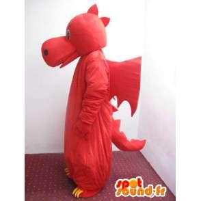 Dinosaur maskot Červená a žlutá - Dragon Costume - MASFR00222 - Dragon Maskot