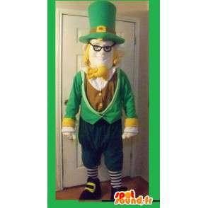 Irischer Kobold Maskottchen grün und braun - Irish Kostüm - MASFR002712 - Weihnachten-Maskottchen