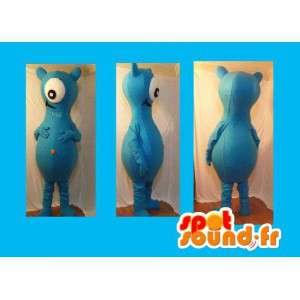 Maskottchen Alien blau - blau Monster-Kostüm - MASFR002717 - Monster-Maskottchen