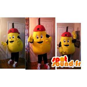 Mascot in the form of large yellow pear - pear Disguise
