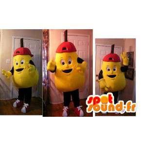 Mascotte en forme de grosse poire jaune - Déguisement de poire