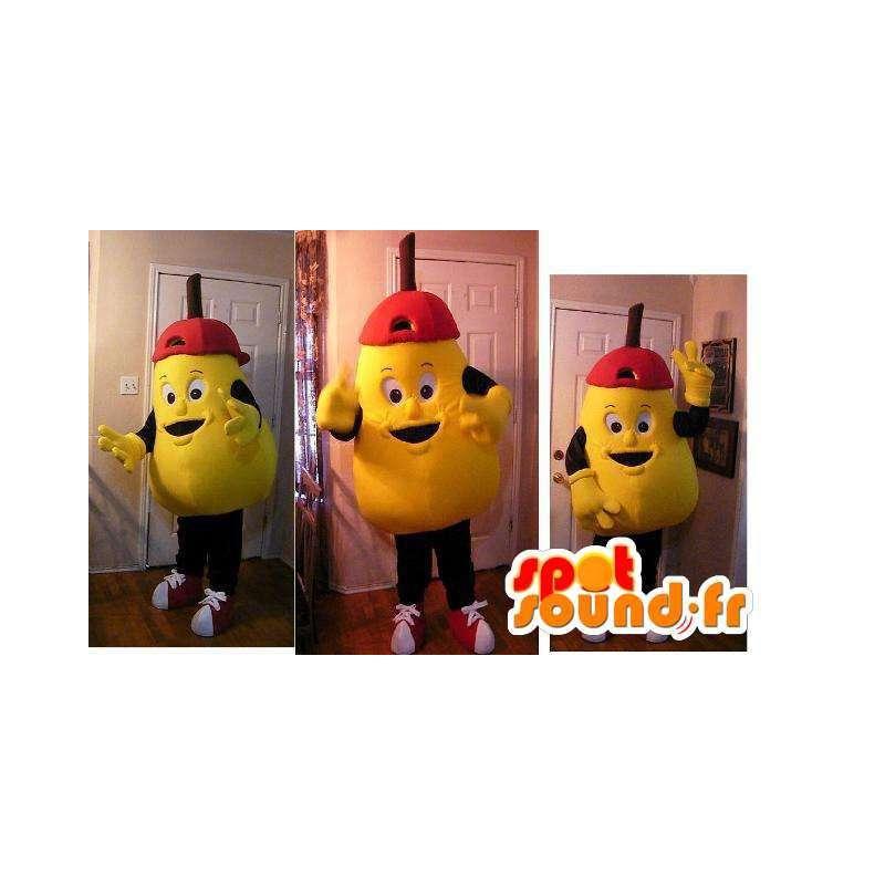 Mascot förmigen große gelbe Birne - Birne Disguise - MASFR002722 - Obst-Maskottchen