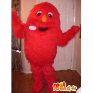 Haarige rote Monster Maskottchen alle - Disguise haarige Monster - MASFR002724 - Monster-Maskottchen