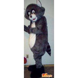 Raccoon mascot gray and black - Costume raccoon