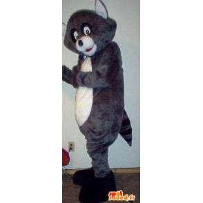 Raccoon mascot gray and black - Costume raccoon - MASFR002725 - Mascots of pups