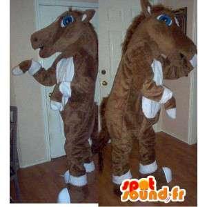 茶色と白の馬のマスコット-馬のぬいぐるみ-MASFR002729-馬のマスコット