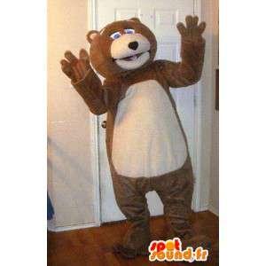 Mascot nalle ruskea ja beige - Teddy Costume - MASFR002732 - Bear Mascot