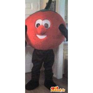 Maskot i form av en stor röd tomat - Förklädnadstomat -