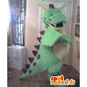 Grüner Dinosaurier-Maskottchen Plüsch - Dinosaurier-Kostüme - MASFR002736 - Maskottchen-Dinosaurier