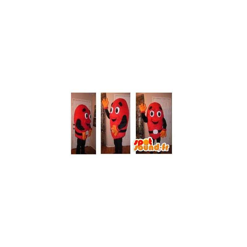Mascotte de bonhomme rouge - Déguisement de m & m's rouge - MASFR002737 - Mascottes Homme