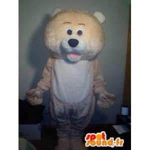 Maskotti Bear Pehmo oranssi - oranssi karhu puku - MASFR002740 - Bear Mascot