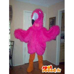ピンクのフラミンゴのマスコット-ピンクのフラミンゴのコスチューム-MASFR002742-海のマスコット