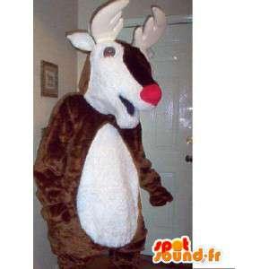Maskottchen-Weihnachtsmann - Verkleidung braun Rentier - MASFR002745 - Weihnachten-Maskottchen