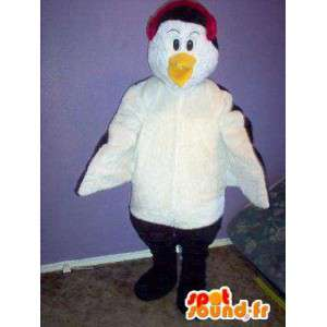 Mascot penguin with earmuffs - Penguin Costume