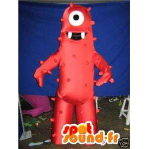 Mascot fremd rot - roten Kostüm Monster - MASFR002749 - Monster-Maskottchen