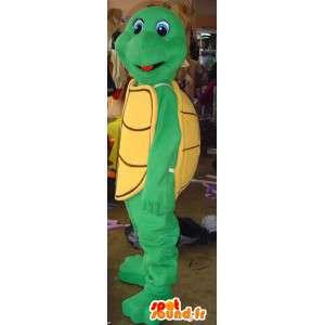 Gul og grøn skildpadde maskot - Skildpadde kostume - Spotsound