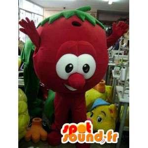 Röd fruktmaskot - Röd fruktdräkt - Spotsound maskot