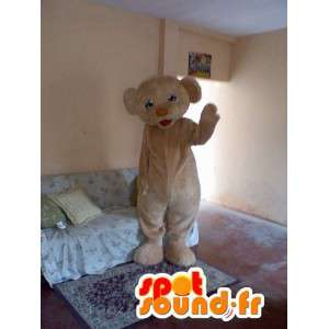 Mascot Bear beige teddy - bear puku - MASFR002757 - Bear Mascot