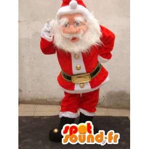 Mascot realistisch Santa - Weihnachtsmann-Kostüm - MASFR002758 - Weihnachten-Maskottchen