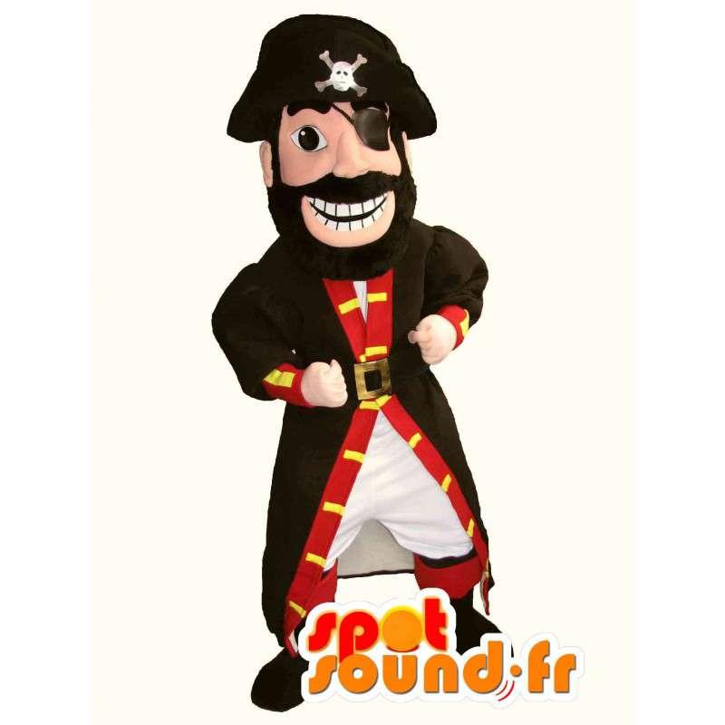 Disfraces de piratas - Mascot pirata rojo y negro - MASFR002760 - Mascotas de los piratas