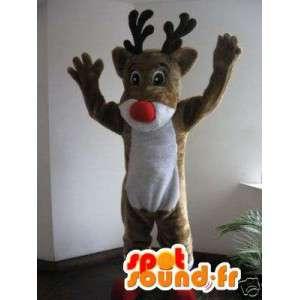 Joulupukin porot maskotti - ruskea poro puku - MASFR002762 - joulun Maskotteja