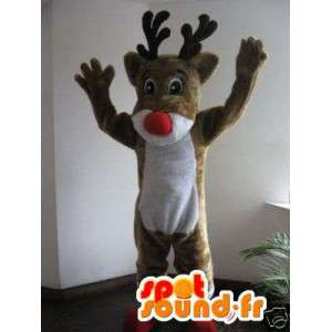 Mascot Santa's reindeer - Reindeer Costume Brown - MASFR002762 - Christmas mascots