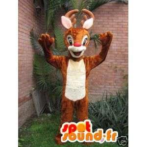 サンタのトナカイのマスコット-茶色のトナカイの衣装-MASFR002763-クリスマスのマスコット